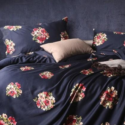 Regency Black Egyptian Cotton Duvet Cover Set