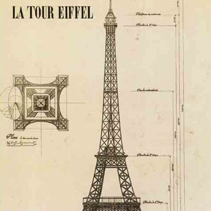 Eiffel Tower Canvas Print B