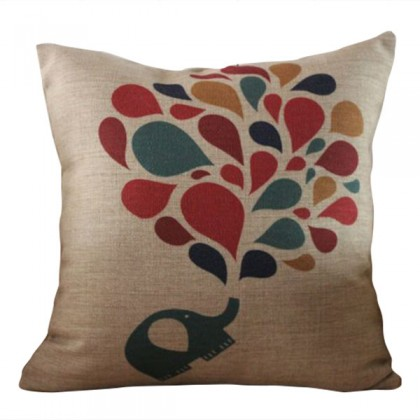 Elephant Spray Cushion Cover