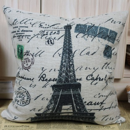 Paris Eiffel Tower Cushion Cover