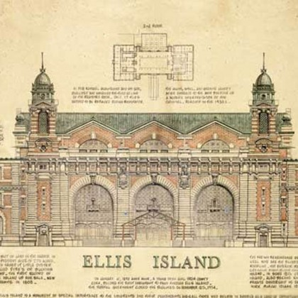 Ellis Island Canvas Print