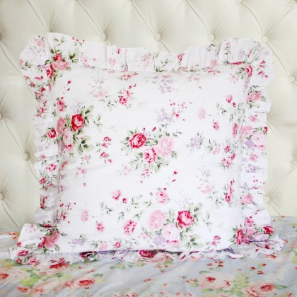Rose Ruffle Pillow Sham ( pair)