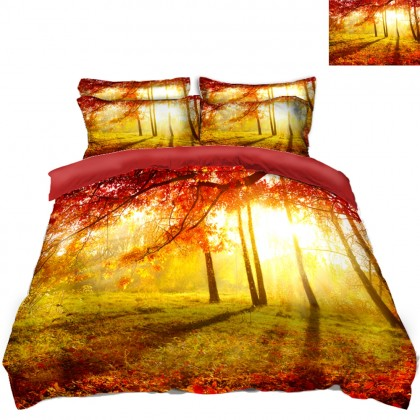 Fall Forest Scenery Duvet Covet Set