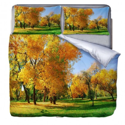 Fall Park Scenery Duvet Covet Set
