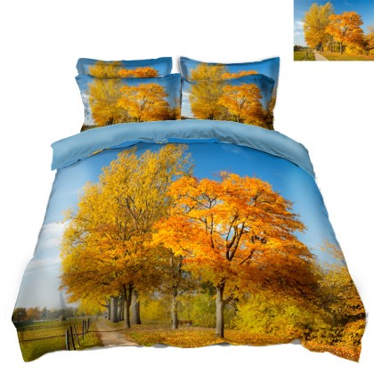 Fall Scenery Duvet Covet Set- G