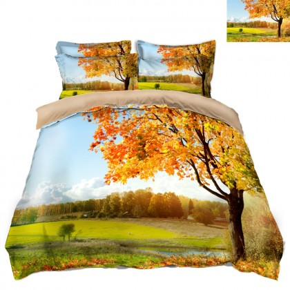 Fall Scenery Duvet Covet Set K