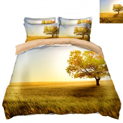 Fall Scenery Duvet Covet Set- A