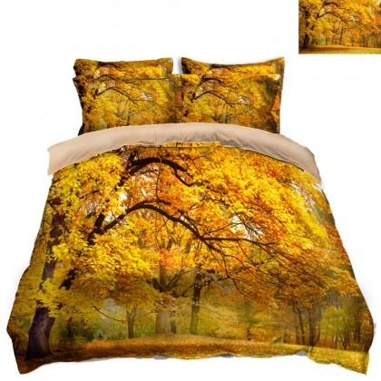 Fall Scenery Duvet Covet Set- E