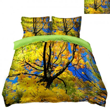 Fall Scenery Duvet Covet Set- F