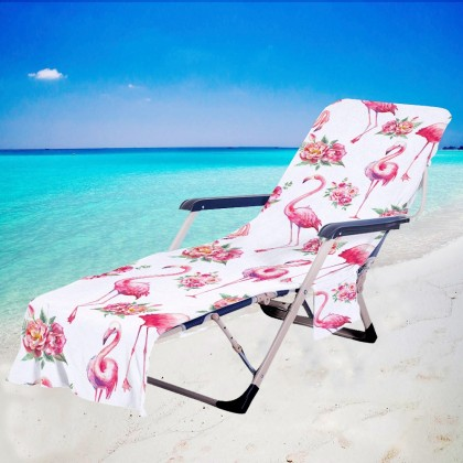 Fashion Flamingo Beach Chair Chaise Chair Patio Chair Cover
