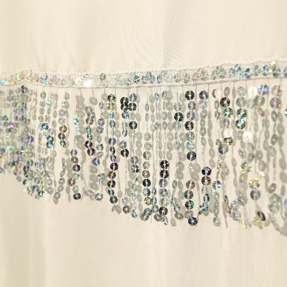Iridescent Sequin Shower Curtain