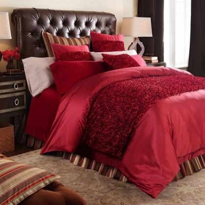 Royal Red Rose Duvet Cover Set