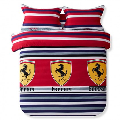 Ferrari Stripe Duvet Cover Set