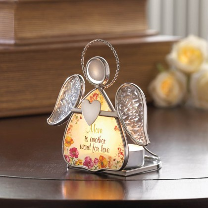 Floral Angel Mom Tealight Holder
