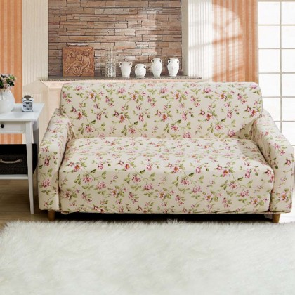 Floral Stretch Sofa Slipcover