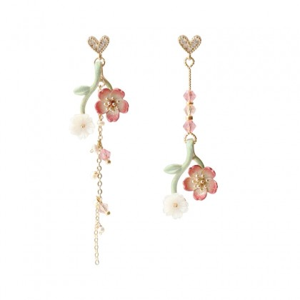 Delicate Cherry Blossom Flower Earrings