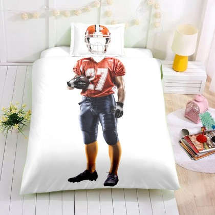 Football Player Duvet Cover Set