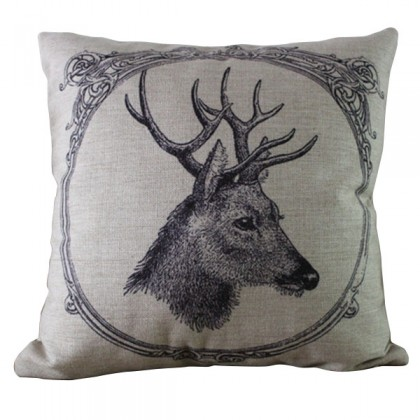 Framed Deer Cushion Cover
