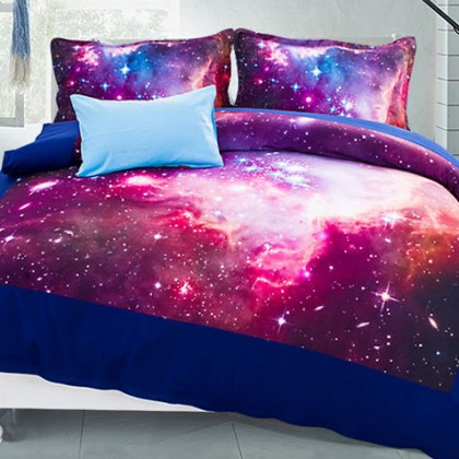 Nebula Star Galaxy Duvet Cover Set