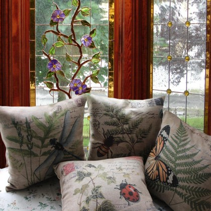 Garden Insects Cushion Cover