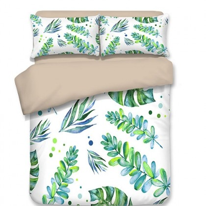 Green Leaves Duvet Cover Set