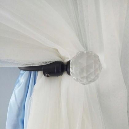 Clear Crystal Curtain Holdback (set of 2)