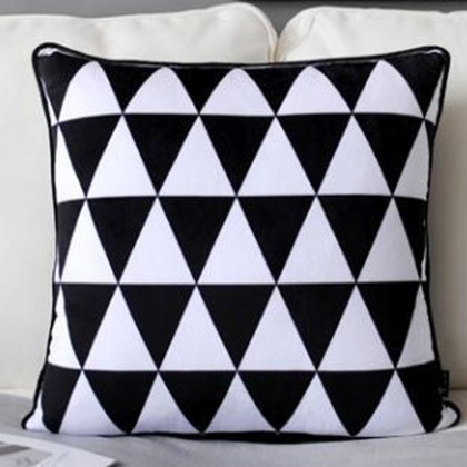 Geometry Triangle Cushion Cover