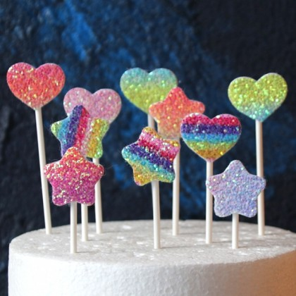 Glitter Cake Topper