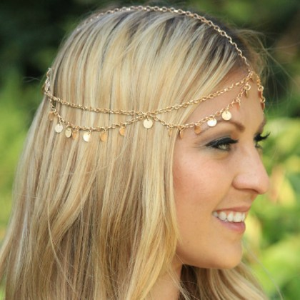 Gold Sequin Coins Hairband