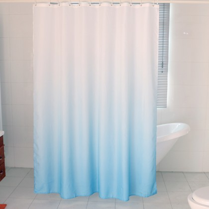White Blue Gradient Shower Curtain