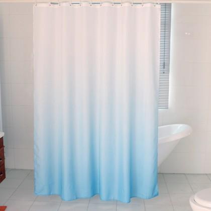 White Blue Gradient Shower Curtain