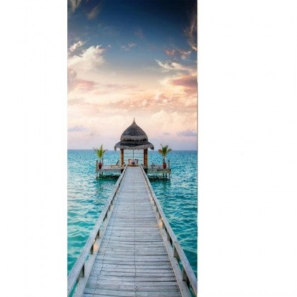 Oceanside Pier Sky Door Wall Mural Poster Decal