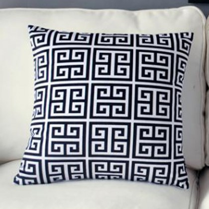 Greek Key Cushion Cover