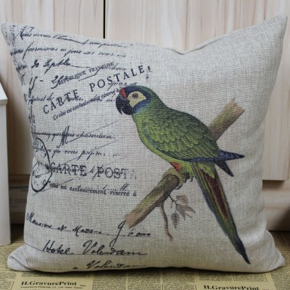 Vintage Parrot Cushion Cover