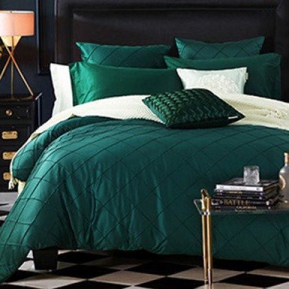 Royal Green Teal Duvet Cover Set