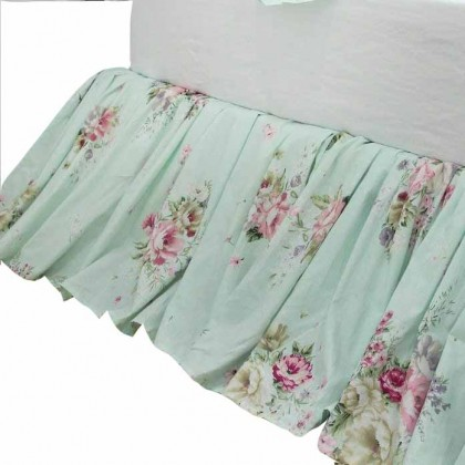 Country Green Ruffle Bed Skirt