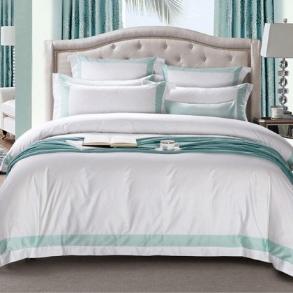 Hotel Egyptian Cotton Duvet Cover Set- Green