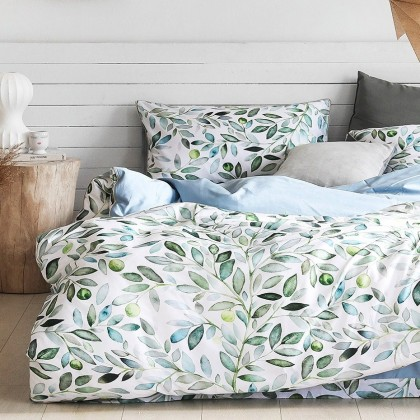 Leaves Egyptian Cotton Duvet Cover Set