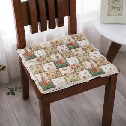 Green Quilt Seat Cushion
