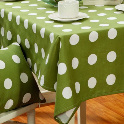 Green Polka Dot Tablecloth