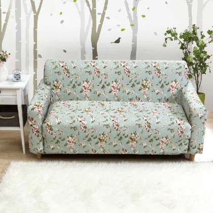 Green Stretch Sofa Slipcover