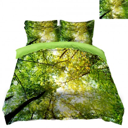 Green Tree Scenery Duvet Covet Set