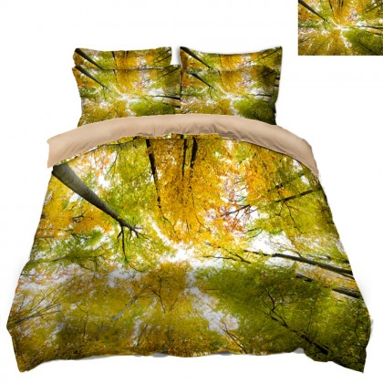 Fall Scenery Duvet Covet Set- H