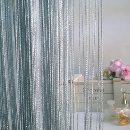Luxury Grey Silver String Curtain