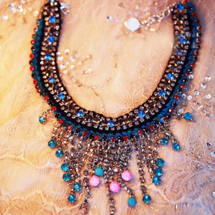 Resplendent Crystal Necklace