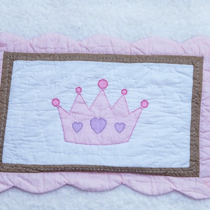 Pink Crown Decorative Cushion Cover