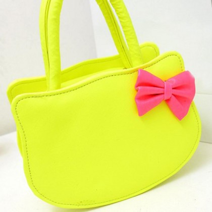 Hello Kitty Neon Yellow Bag