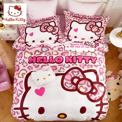 Pink Hello Kitty Duvet Cover Set