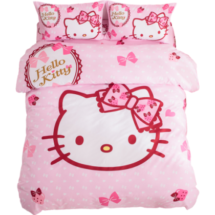 Hello Kitty with Bows Duvet Cover Set