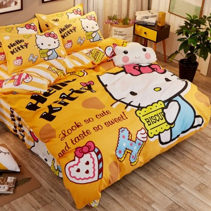 Hello Kitty Biscuit Cookies Duvet Cover Set